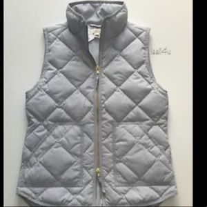 J Crew size small light gray quilted vest
